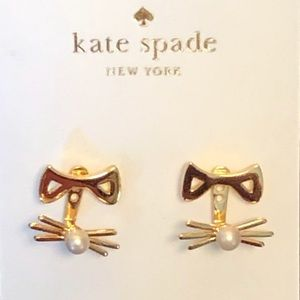 KATE SPADE Out West Cat earrings